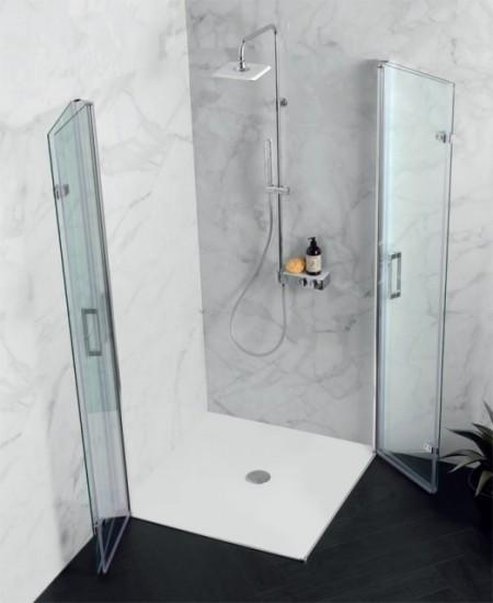 """Box doccia con anta DUE porte a libro soffietto """" PS35 """""""