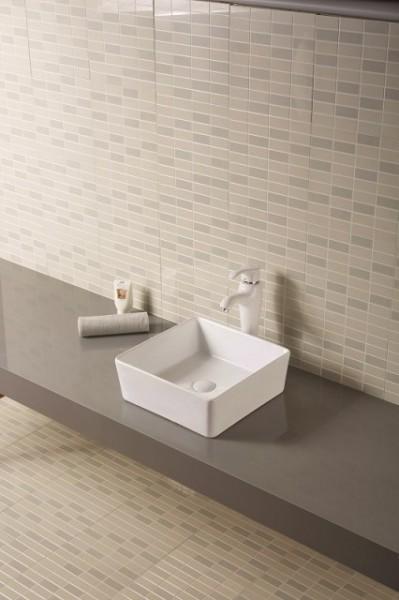 """Lavabo da appoggio in ceramica quadrato 39x39 h14 """"815"""""""