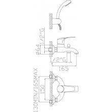 Monocomando vasca con duplex e flessibile doppia aggraffatura Kyros