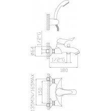 Monocomando vasca con duplex e flessibile doppia aggraffatura quick