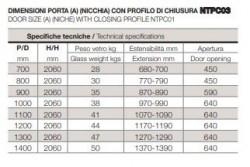"""PORTA DOCCIA IN CRISTALLO CON PORTA BATTENTE """"TPB72"""""""