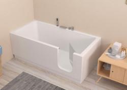 """Vasca da Bagno Salvaspazio con Sportello """" EASY """" 150X70 - 170 x70"""
