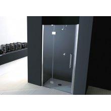 Porta doccia battente EPB43 Vetro 6mm Trasparente 85 90 100 110 120 + anta fissa 70 80 90 Altezza 190cm