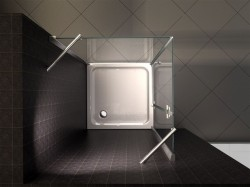 """BOX DOCCIA IN CRISTALLO CON APERTURA A BATTENTE ESTERNA """"049"""" Dim 70x100 80x100 90x90 OCCASIONE Fine Serie"""