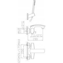 Monocomando vasca con doccia duplex e flessibile cromalux Cromato
