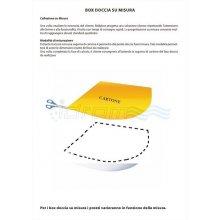 """BOX DOCCIA IN PVC 3 LATI CON APERTURA CENTRALE """"IDPFAC"""""""