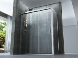 """BOX DOCCIA 3 PORTE SCORREVOLI SOVRAPPONIBILI in cristallo 8mm TRASPARENTE """"301 box"""" NOVITA' 2020"""