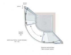 Box doccia sermicircolare dim 80x80 90x90 100x100 h200 Anticalcare