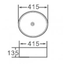 """Lavabo da appoggio in ceramica circolare 41,5 h13.5 """"811"""""""