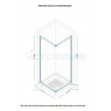 """BOX DOCCIA IN PVC CON APERTURA CENTRALE """"IDPOAC"""""""
