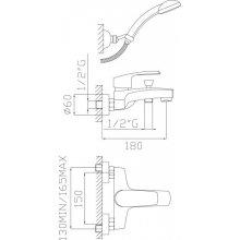 Monocomando vasca con duplex e flessibile doppia aggraffatura Ladak