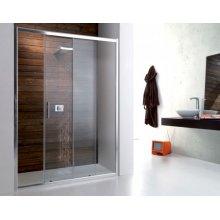 Porta doccia PSC 50 nicchia a scorrevole 100 110 120 130 140 150 160 170 180 cm + Anta Fissa Opzionale 70 80 90cm Trasparente o Opaco H 190cm