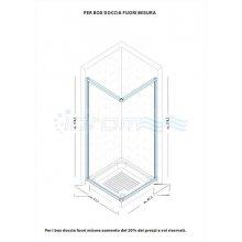 """BOX DOCCIA SEMICIRCOLARE IN PVC CON APERTURA LATERALE """"IDSOAL"""""""
