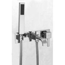 Monocomando vasca/doccia ad incasso con flessibile a doppia aggraffatura