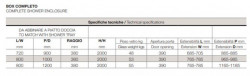 Box doccia sermicircolare asimmetrico dim 72x90 80x100 80x120cm h200 Anticalcare
