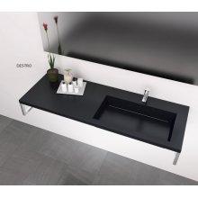 Lavabo sospeso con piano di appoggio mineral marmo da 100 a 120cm