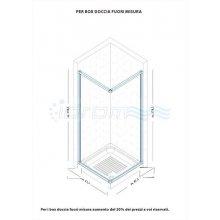 """BOX SOPRAVASCA DUE LATI IN PVC APERTURA LATERALE """"IDTAAL"""""""