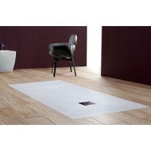 PIATTO DOCCIA RETTANGOLARE IN MINERAL MARMO h 2.5 cm Bianco Antracite Beige Grigio