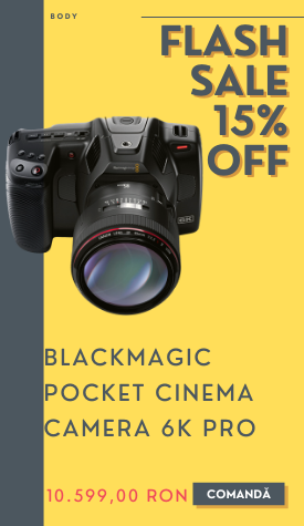 pocket cinema camera 6k pro promotie