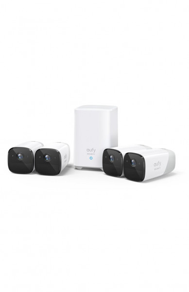 Kit supraveghere video eufyCam 2 Security wireless, HD 1080p, IP67, Nightvision, 4 camere video