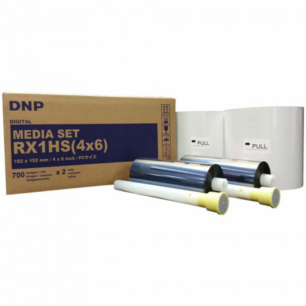 """Hartie si Ribon DNP 4 x 6"""" Media Set pentru Imprimanta DS-RX1HS & RX1 (2 Role)"""