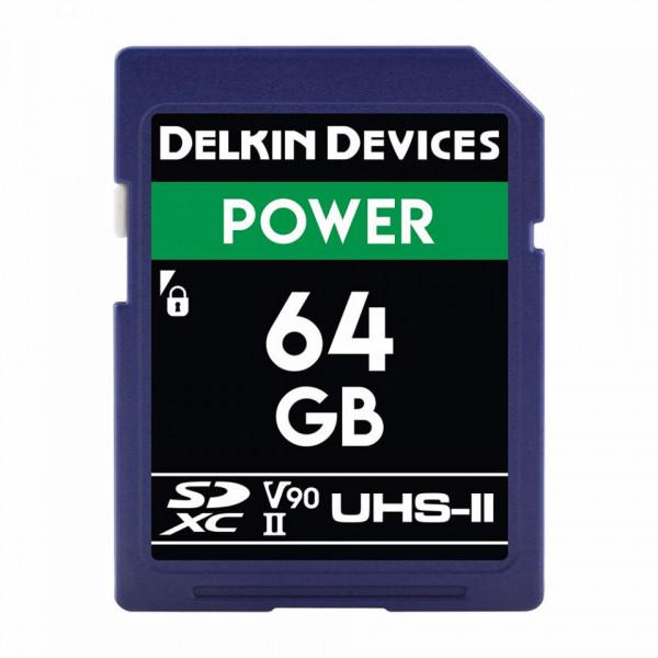 Card memorie 64GB Delkin SD Power 2000X UHS-II U3 (V90) R300/W250