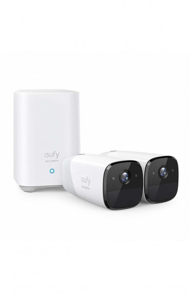 Kit supraveghere video eufyCam 2 Security wireless, HD 1080p, IP67, Nightvision, 2 camere video