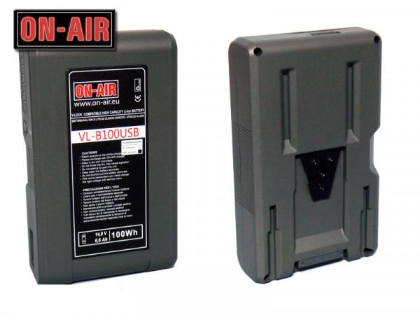 Baterie ON-AIR V-Lock-Li-Ion-14,8V-6,6A-100W- Power Tap & USB-Waterproof