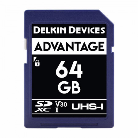 Card memorie 64GB DELKIN SD Advantage 660X UHS-I U3 (V30) R90/W90