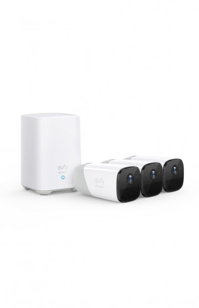 Kit supraveghere video eufyCam 2 Security wireless, HD 1080p, IP67, Nightvision, 3 camere video