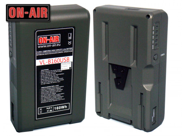 Baterie V-Lock - Li-Ion - 14,8V - 11A - 160W - Power Tap & USB - Waterproof