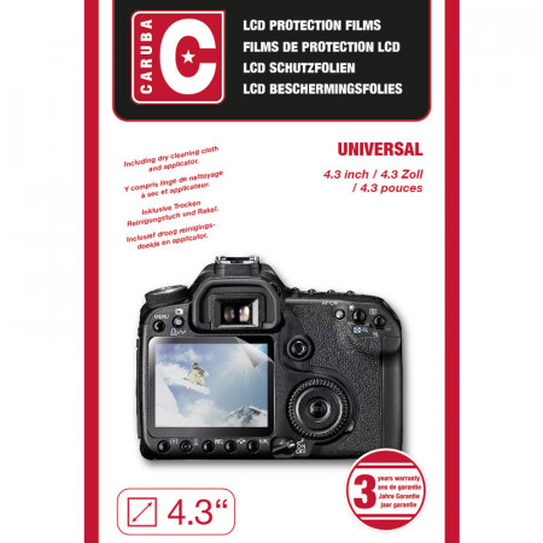 "Folie protectie LCD aparat foto Caruba LCD Universal. 4,3"""