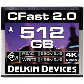Card de memorie 512GB DELKIN Cfast Cinema 2.0 R560/W495