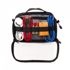 Geanta transport cabluri si accesorii dubla - Caruba Cable Bag S (CAB-1d)