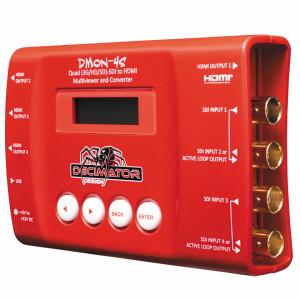Mini convertor Decimator 4x 3G/HD/SD-SDI la HDMI, Quad Multi-Viewer, DMON-4S