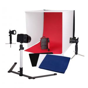Mini-Studio foto portabil Caruba cu lămpi LED separate 60x60x60cm - PFSL-6060