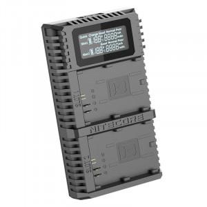 Nitecore UCN2 Pro Dual încărcător USB pentru Canon LP-E6N