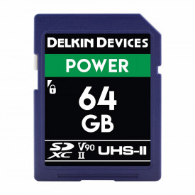 Card memorie 64GB Delkin SD Power 2000X UHS-II U3 (V90) R300/W250