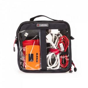 Geanta transport cabluri si accesorii dubla - Caruba Cable Bag M (CAB-2d)