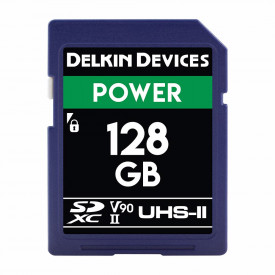 Card memorie 128GB Delkin SD Power 2000X UHS-II U3 (V90) R300/W250