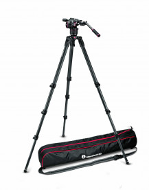 Kit trepied Manfrotto, cap video Nitrotech N8 w, Trepied CF Tall Single Leg