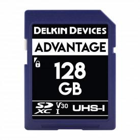 Card memorie 128GB DELKIN SD Advantage 660X UHS-I U3 (V30) R90/W90