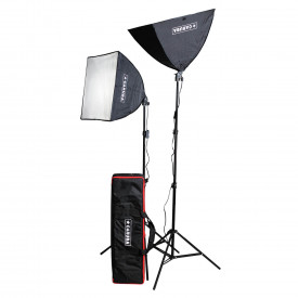 Caruba All-in-1 Set de lumină video (Softbox / LED-uri) - 60W