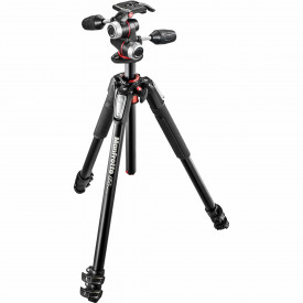 Kit trepied foto Manfrotto MK055XPRO3-3W + Cap MHXPRO-3W