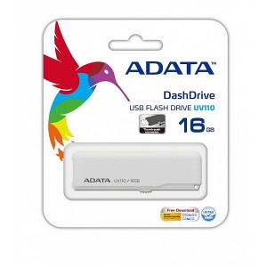 USB Flash Drive Adata UV110 16GB USB 2.0 Alb auv110-16g-rwh