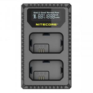Încărcător dublu compact Nitecore USN1 pt Sony NP-FW50 cu indicator + USB