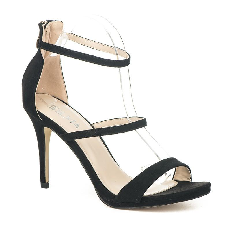 ab16f5321389 Poze Elegantne sandale na štiklu S8305 crne