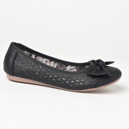 Slika Baletanke sa kožnom tabanicom L71223-2 crne