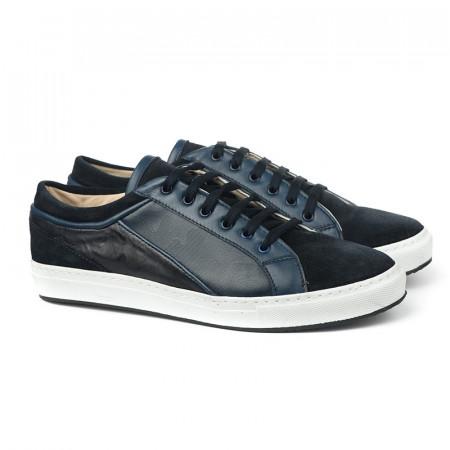 Slika Kožne muške cipele/patike 5291 teget