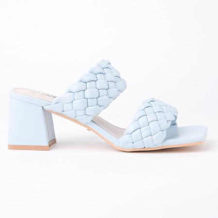 Papuče na štiklu LP242126 plave